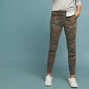 Anthropologie Jefferson Slim Camouflage Pants